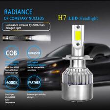 1X H7 8000LM 80W COB LED Headlight Kit Bulb High/Low Beam 6000K Car SUV Lamp