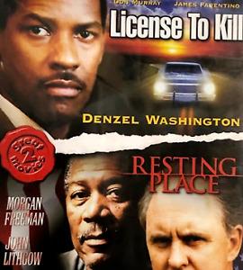 Resting Place + License to Kill DVD 80's Movie Denzel Washington Morgan Freeman