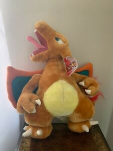Vintage 1999 Charizard Pokeman Nintendo plush stuffed animal 18 inches tall.