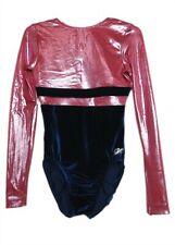 Gk Elite Navy Velvet/Red Mystique Gymnastics Leotard - As Adult Small 4572