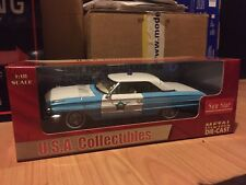 FORD GALAXIE 500 POLICE CAR 1964 1:18 SCALE BY SUNSTAR NEW RARE MUSTANG FAIRLANE