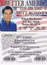 Republican Mitt Romneyfun id card Drivers License future President Mormon Rep.