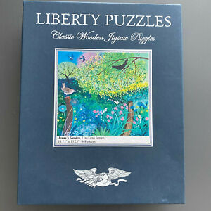 Liberty Puzzles Classic Wooden Jigsaw Puzzle, Jenny's Garden, 468 pieces
