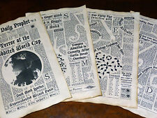 11X17inch Terror at Quidditch world Cup 4 aged pages The Daily Prophet Newspaper