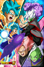 Dragon Ball Super Poster Black Goku/Zamasu Vegito Blue 12in x 18in Free Shipping