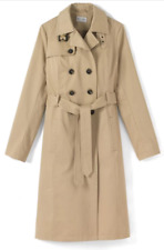 TRENCH T.52 NEUF / IMPERMÉABLE Beige / IMPERS COTON / Manteau Grande taille