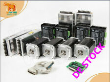 gratuita4assi motore passo-passo Nema34 1600oz-in 3.5A &driver DQ860MA  80V CNC