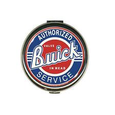 GM Buick Service Logo Retro Mirror Make Up Metall Taschenspiegel Schminkspiegel
