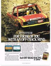 1988 Epyx 4x4 Off Road Racing Computer Game Vtg Print Ad