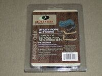Utility rope kit with bow gun hooks Mossy Oak Hunting Accessories 20' camo new