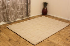 Indian Wool Rugs Premium Best Quality Thick Clearance Stylish Home Interior Rug 120x180cm (4x6') 16.cubist Cream