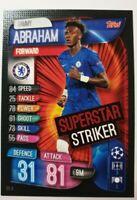 Match Attax Champions League Extra 19/20 Superstar Striker Abraham Topps Panini