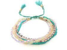 Bracelet Multi Lien perle de rocaille (rang liens friendship wrap seed beads)
