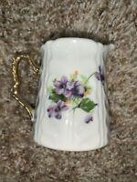 Vintage Norcrest Vintage China Sweet Violet Creamer Porcelain