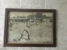 "Original Baseball ""Thrown Out At Second"" Antique Print Harper's Weekly.  #1704"