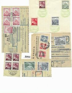#5953     1939 - 1945 Third Reich  Bohemia & Moravia Stamps / Cancel on paper