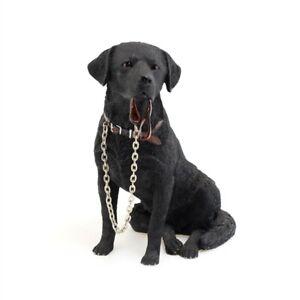 Walkies! Black Labrador sitting with leash  from Dog Studies by Leonardo