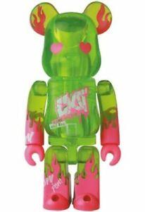 Medicom Bearbrick Series 42 Artist Secret be@rbrick 100% EXIT Green x Pink S42