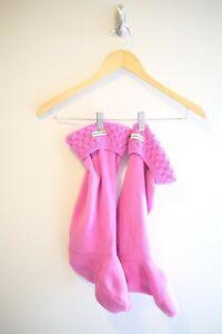 Hunter Pink Women's 8-10 Purple Pink Cable Knit Sweater Rain Boot Winter Socks