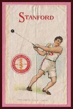 OLD 1910 Stanford University Indian (Cardinal) Murad Tobacco Silk HAMMER THROW!