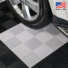 EZ DIY Garage Floor Tiles |Perforated Tiles White - USA MADE