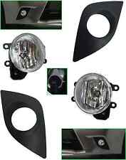 REPLACEMENT FOG LIGHT LAMPS KIT FOR 2014 - 2016 TOYOTA COROLLA BLACK BEZELS