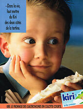 PUBLICITE ADVERTISING 025  1991  KIRI  2     fromage pour gastronomes