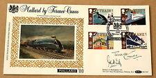 Il trasporto Mallard 1988 BENHAM FDC York HS firmato dall'artista TERENCE Cuneo + 1