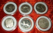 BRD 6 x 10 Mark Gedenkmünzen-Silber- Deutsche Mark  in Kapseln