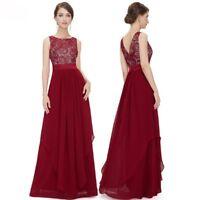 Elegant Women Lace Dress Backless Formal Wedding Long Vestido Evening Party Gown