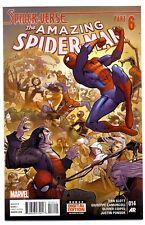 1)AMAZING SPIDER-MAN v3 #14(4/15)SPIDER-GWEN/SILK/MILES MORALES(CGC IT)9.8(VERSE