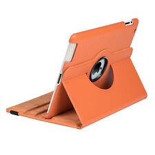 Leather Smart Case Rotating Cover for Apple iPad 5 4 3 2 Mini Air 1 Pro 9.7 10.5 The iPad 2/3/4 Orange