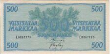 Finland banknote P96a-7775 500 Markkaa 1956, VF+ We Combine