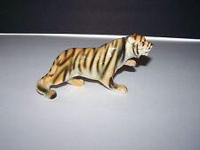 Vintage Hand Decorated Porcelain Tiger in Walking Pose Figurine Great Detail
