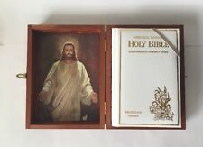 Memorial Edition Holy Bible Concordance 1976 Protestant Illustrated Wooden Case
