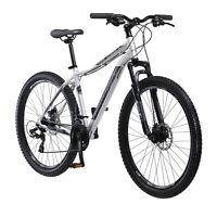 NEW 27.5 Schwinn Aluminum Comp Mens Mountain Bike Silver 21 Speed Shimano