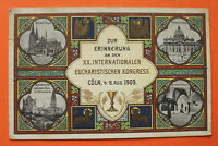 Litho AK Erinnerung Köln 1909 XX. internationaler Eucharisten Kongress NRW 11