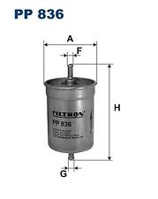 Fuel Filter - Filtron PP836