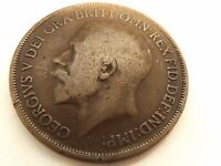 1913 British One (1) Penny Coin