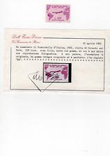 REPUBBLICA 1961 GRONCHI ROSA  CON CERTIFICATO ENZO DIENA