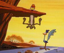 ZOOM AND BORED II, Wile E. Coyote cel by Chuck Jones L.E./60