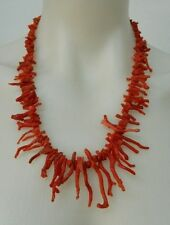 Collana in Corallo rosso sardo antico Rametti di Corallo OMA19