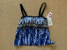 Maxine of Hollywood Safari Bandeau Tankini Top With Side Tie Size 14