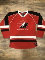 Team Canada Olympics Hockey Jersey IIHF Size Medium Red Black Embroidered