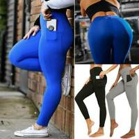 Women High Waist Yoga Leggings Ruched Sports PUSH UP Pants Fitness Sportwear GYM