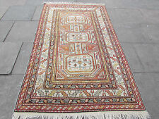 Old Traditional Hand Made Turkish Oriental Rug Pink Wool Carpet Rug 240x144cm