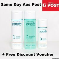 Proactiv 3 Piece 60 Day Set 120ml Cleanser, Toner & Treatment 3 Step w/ BOOKLETS