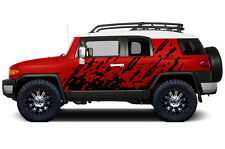 Custom Vinyl Decal Burst Wrap Kit for Toyota FJ Cruiser Parts 07-14 Matte Black