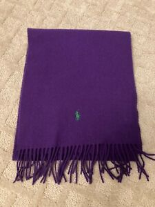 Ralph Lauren Polo Purple Lambswool Scarf