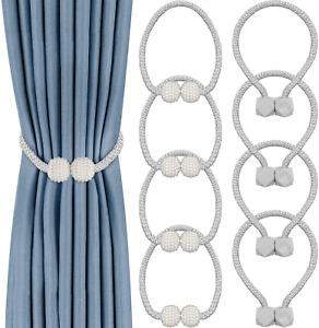 8 Pack Magnetic Curtain Tiebacks, Drape Tie Backs Decorative Curtain Holdbacks H